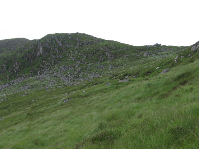 Crags on eastern side of Gordons Loup